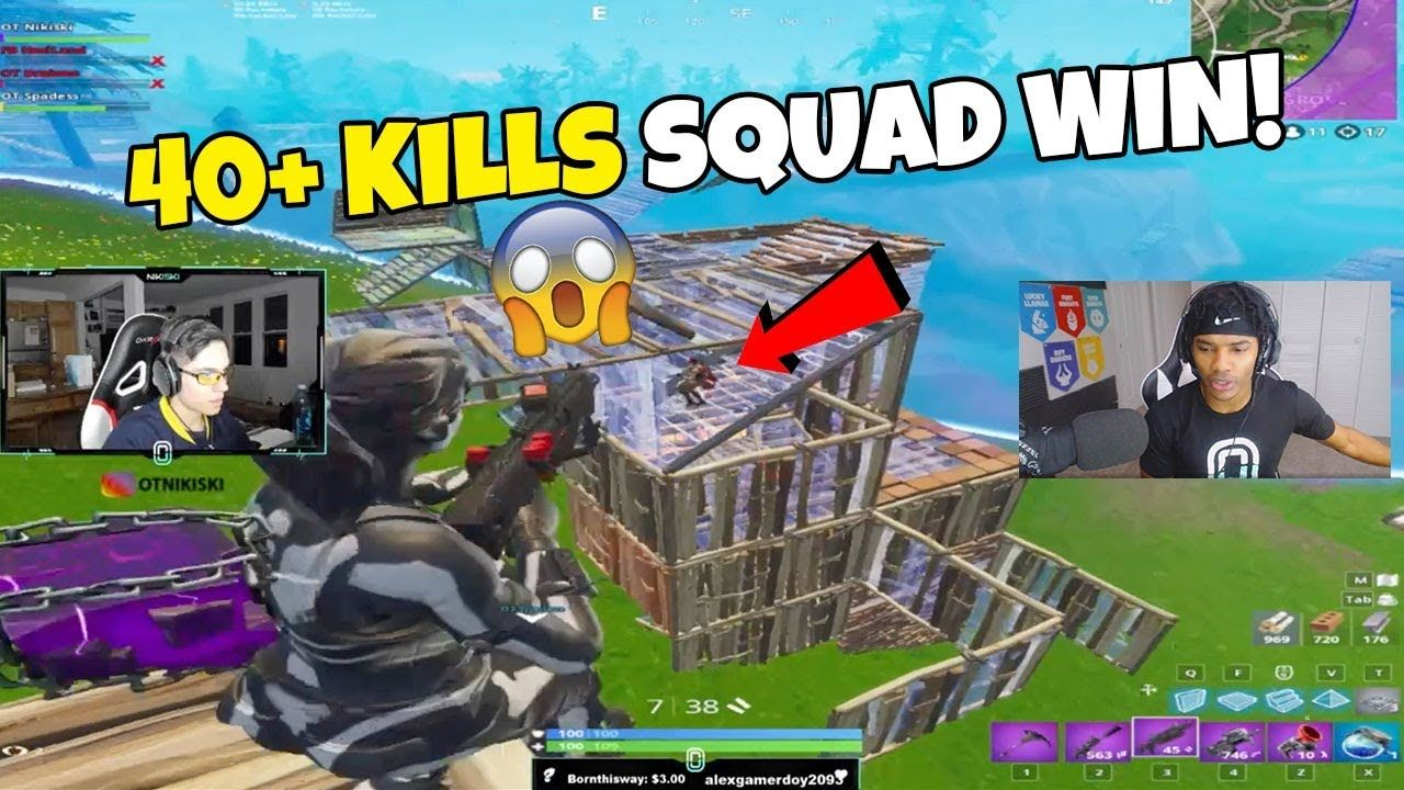40+ Kill Squad INSANE Fortnite Win! OT Draineo, OT Nikiski & OT Spadess WENT OFF 🔥