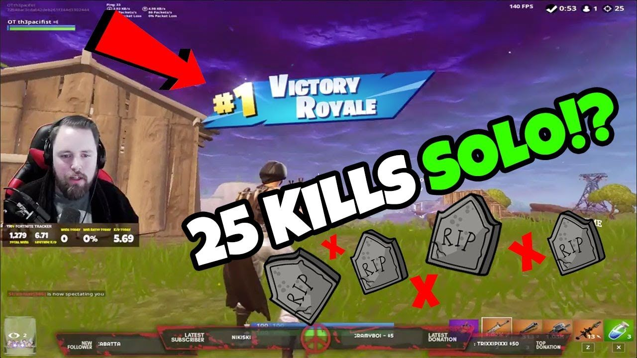 25 KILL Solo Squad Win!? OT Th3pacifist Is UNSTOPPABLE (Full Twitch Stream) 🎯