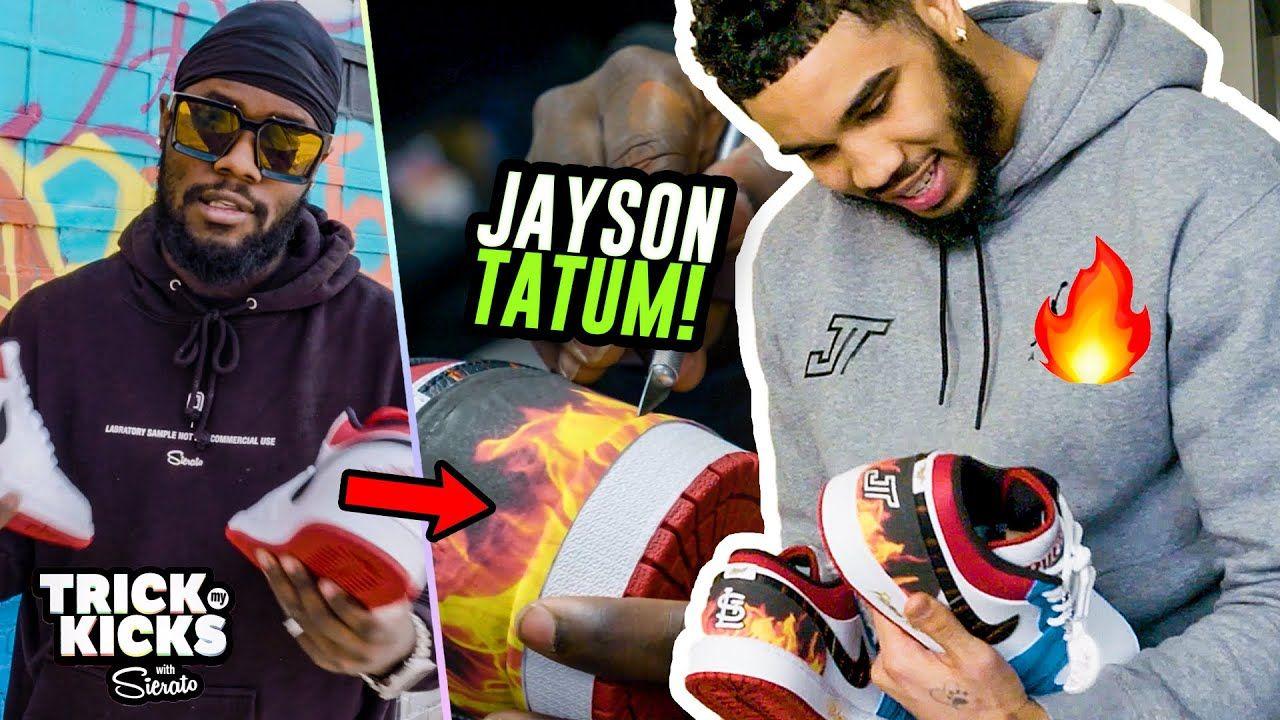 Making Jayson Tatum CUSTOM Size 14 Jordans! But Did He Like Them... 😱