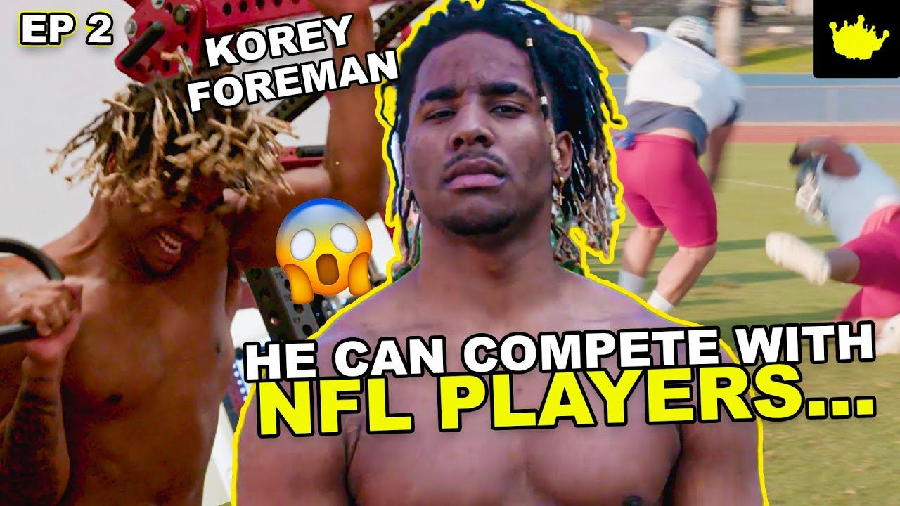 #1 Player Korey Foreman Does CRAZY NFL Workout Before Big Game! How Football Saved A Kid From EGYPT?