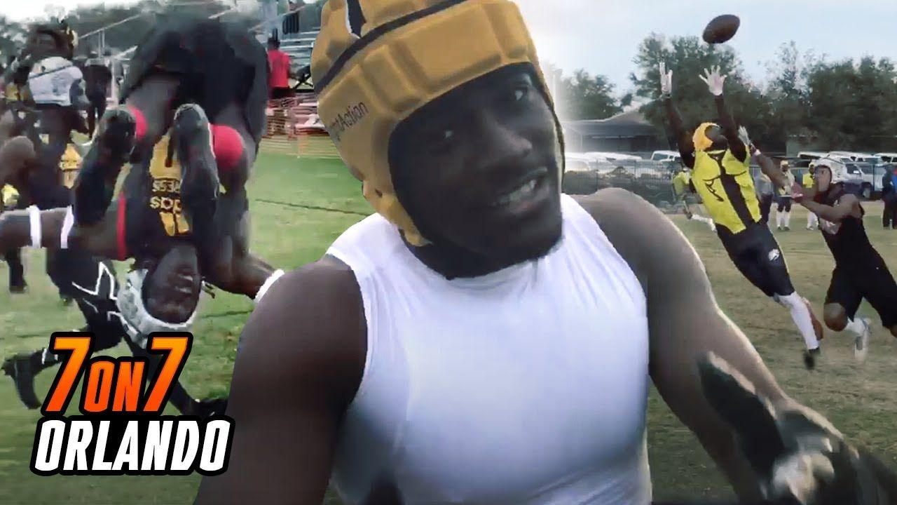 Trey Sanders And Akeem Dent LIGHT UP 7 ON 7 Competition! Backflips, Trash Talk & MORE