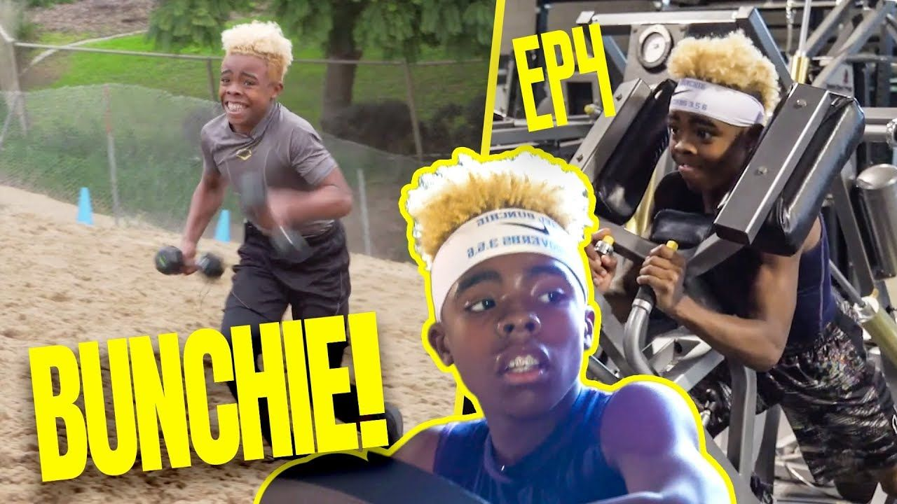 13 Year Old Prodigy Bunchie Young Does IMPOSSIBLE WORKOUTS! Gets NFL Training & A BIG SURPRISE!?