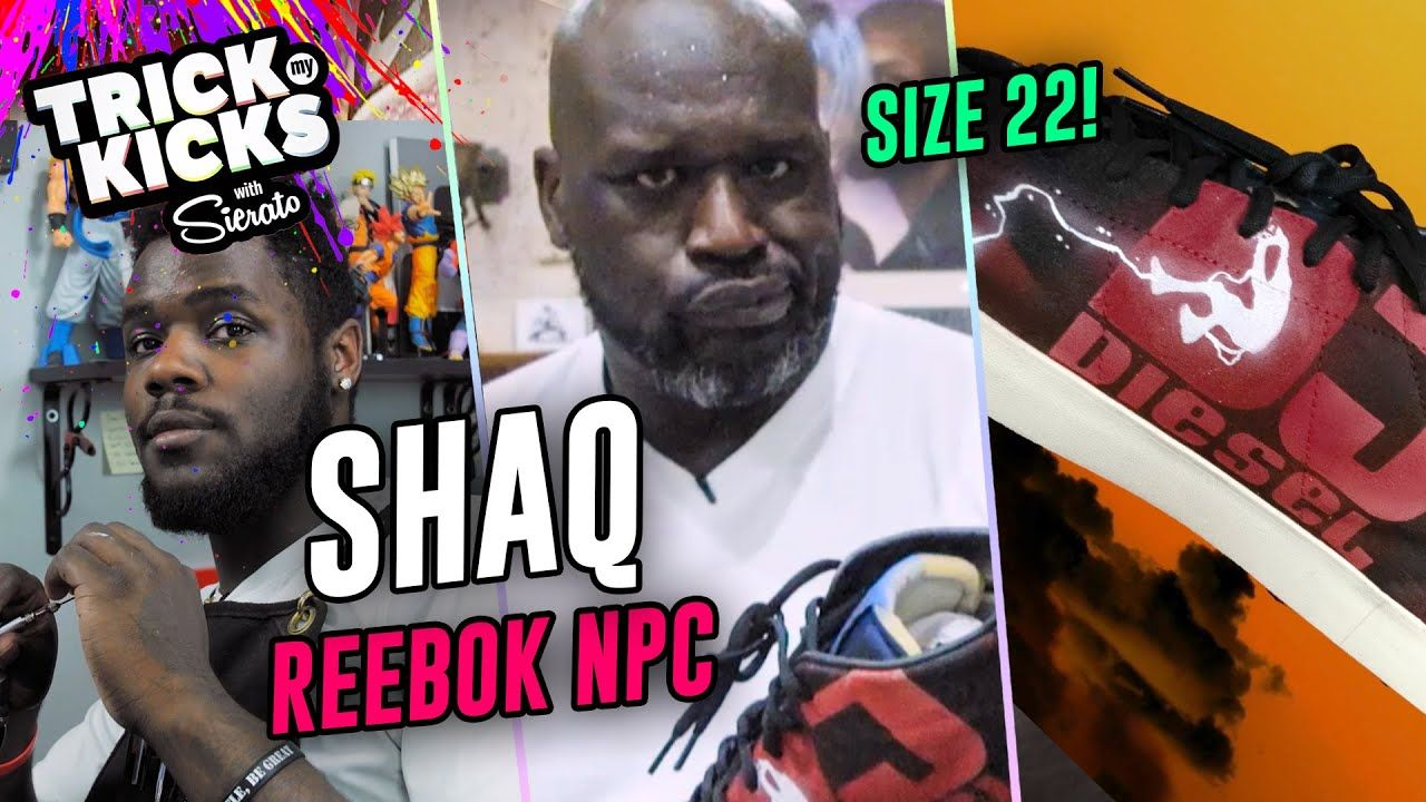 Making SIZE 22 Custom Shoes For SHAQ! #1 Sneaker Artist In World Visits Shaquille O'Neal's MANSION!