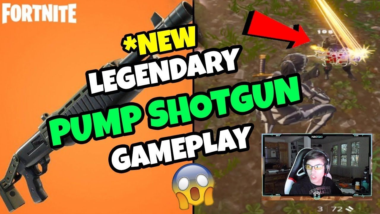 *NEW* Fortnite LEGENDARY PUMP SHOTGUN Gameplay! PRO Player Tests Update In Battle Royale 🔥