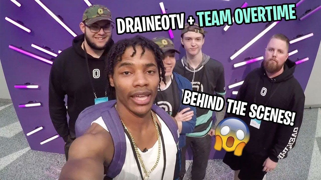 Behind The Scenes At TwitchCon 2018 With DraineoTV And Team Overtime 🔥