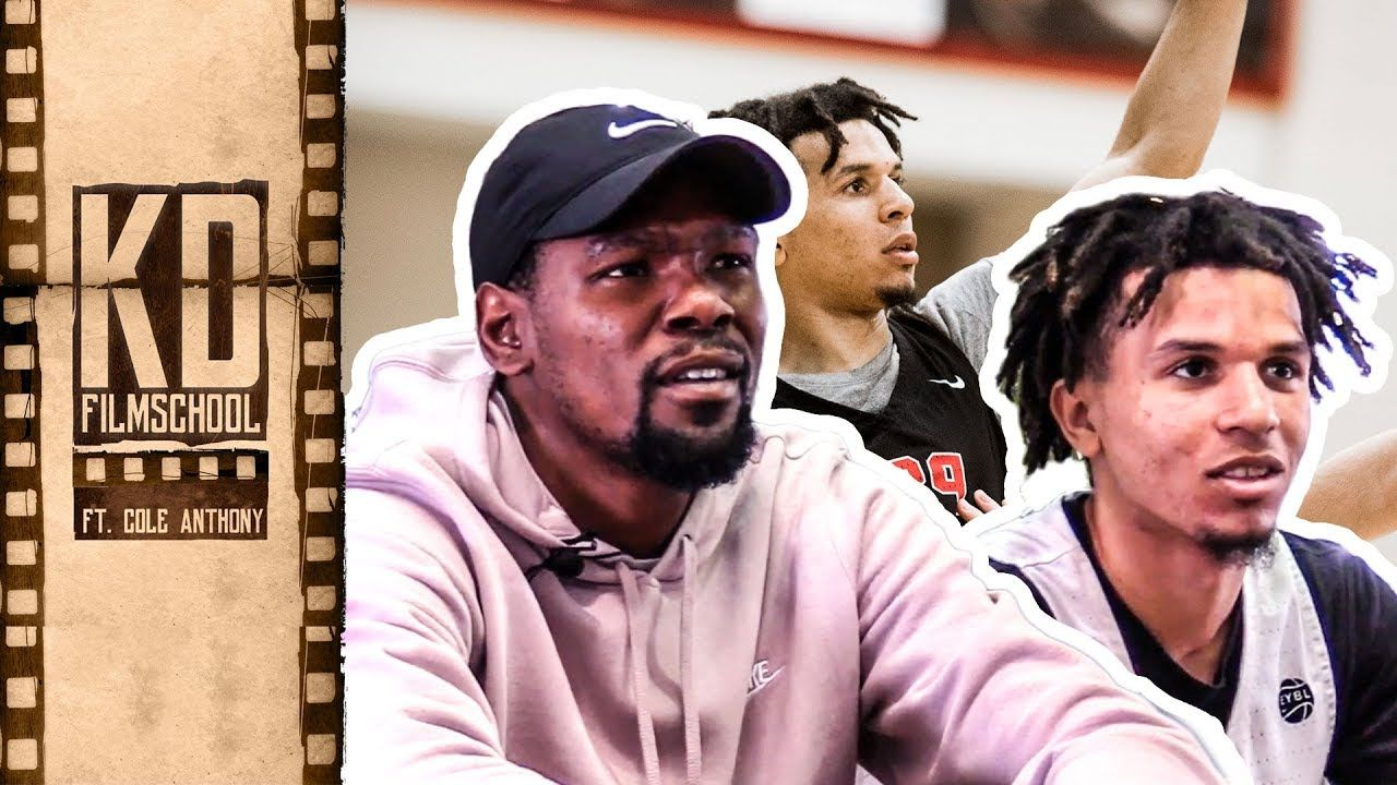 "Kevin Durant Reviews Film With Oak Hill's COLE ANTHONY! ""You're So Much Better Than These Guys."""