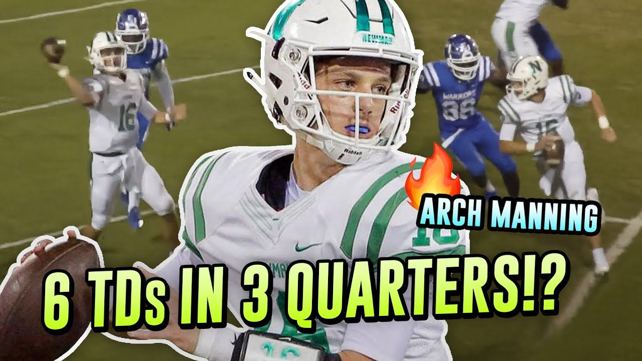Arch Manning Drops 6 TDs in 3 QUARTERS!? Peyton Manning's Nephew Balls OUT In Season Opener!