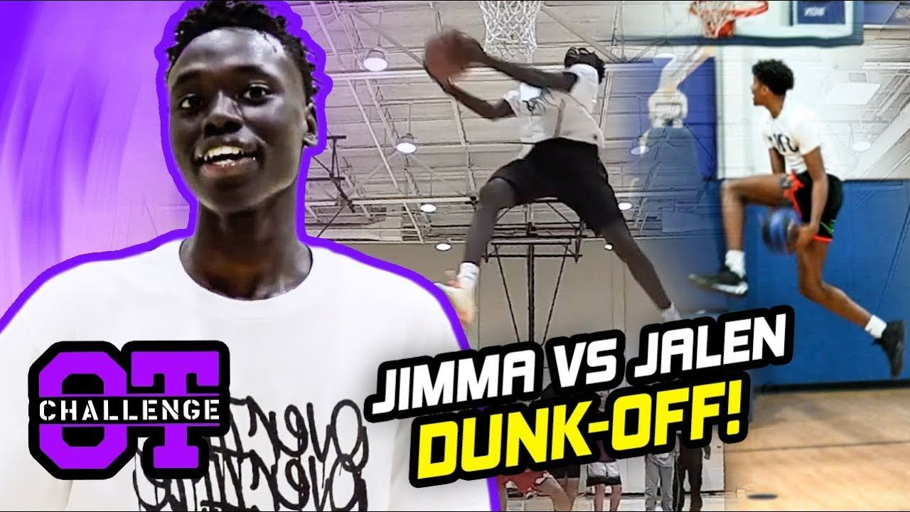 Jimma Gatwech Does IMPOSSIBLE DUNKS In Overtime Challenge! Best Dunker In World Calls Out TRAE YOUNG
