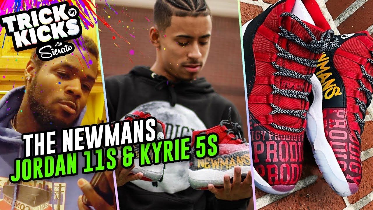 Julian Newman Gets FIRE Jordan 11 Customs From Sierato! Jaden Newman Cops Some Kyries 🔥