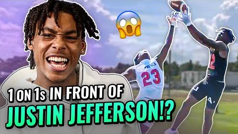 TikTok Famous 5 Star WR Balls Out In Front Of JUSTIN JEFFERSON! All-American Battle At UA Future 50!