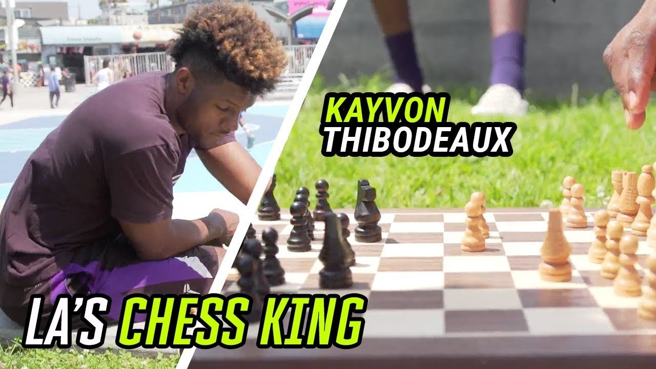 Is Kayvon Thibodeaux A GENIUS!? Top Recruit Bodies STRANGERS In CHESS At Venice Beach 👀