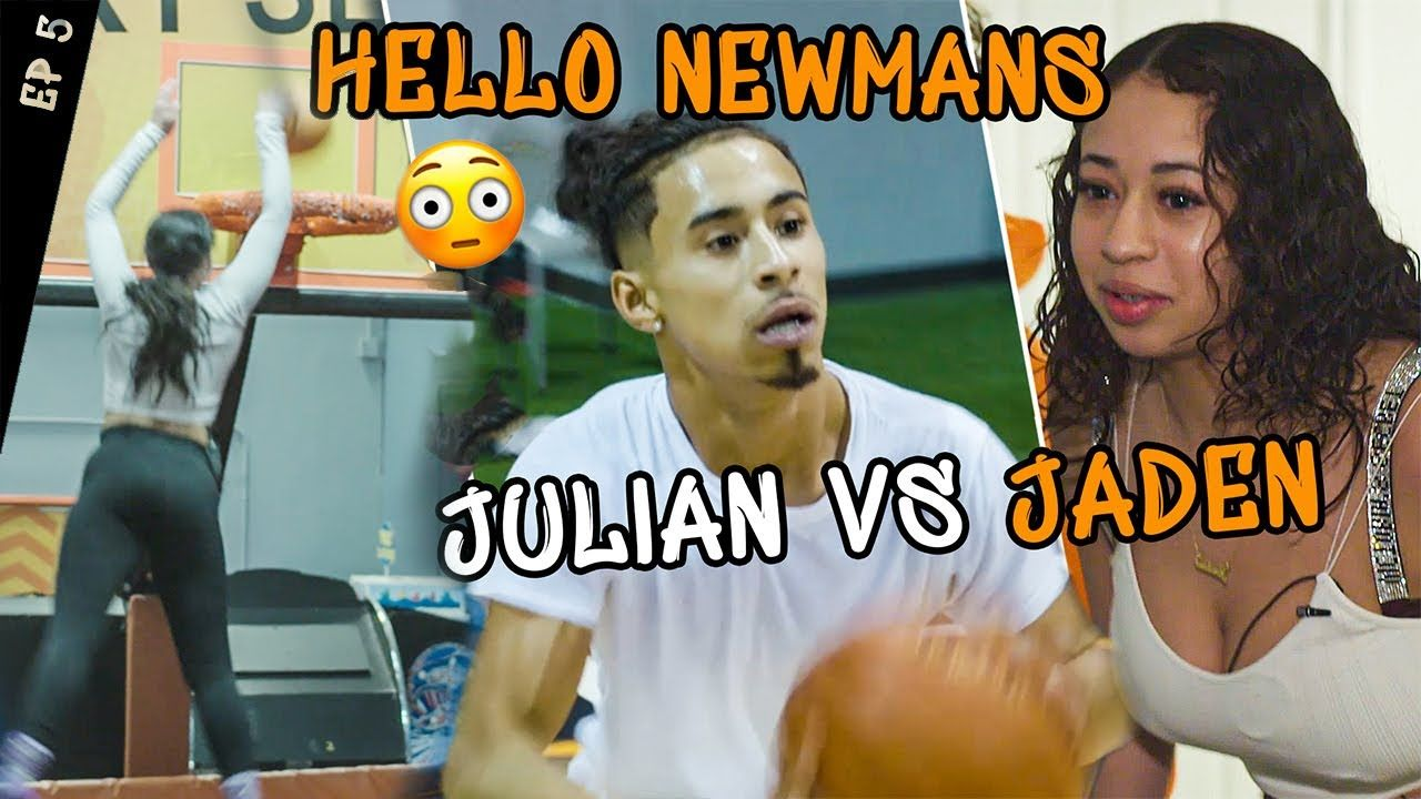 """""""Ready For The Overseas Move."""" Jaden Newman DUNKS On Trampoline! Julian Newman SHOWS OFF In Workout!"""