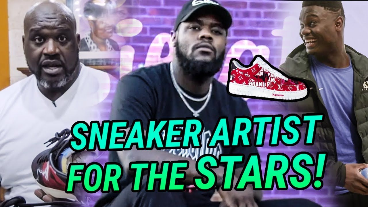 He's The Sneaker Customizer For Shaq, Ja Morant, Tom Holland & More! The Story Of Sierato 😱