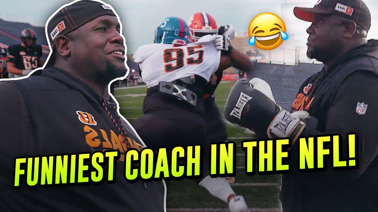 """Get His A*S Out!"" Hilarious Bengals Coach Mic'd UP! Coach BOXES Against Best College Players!?"