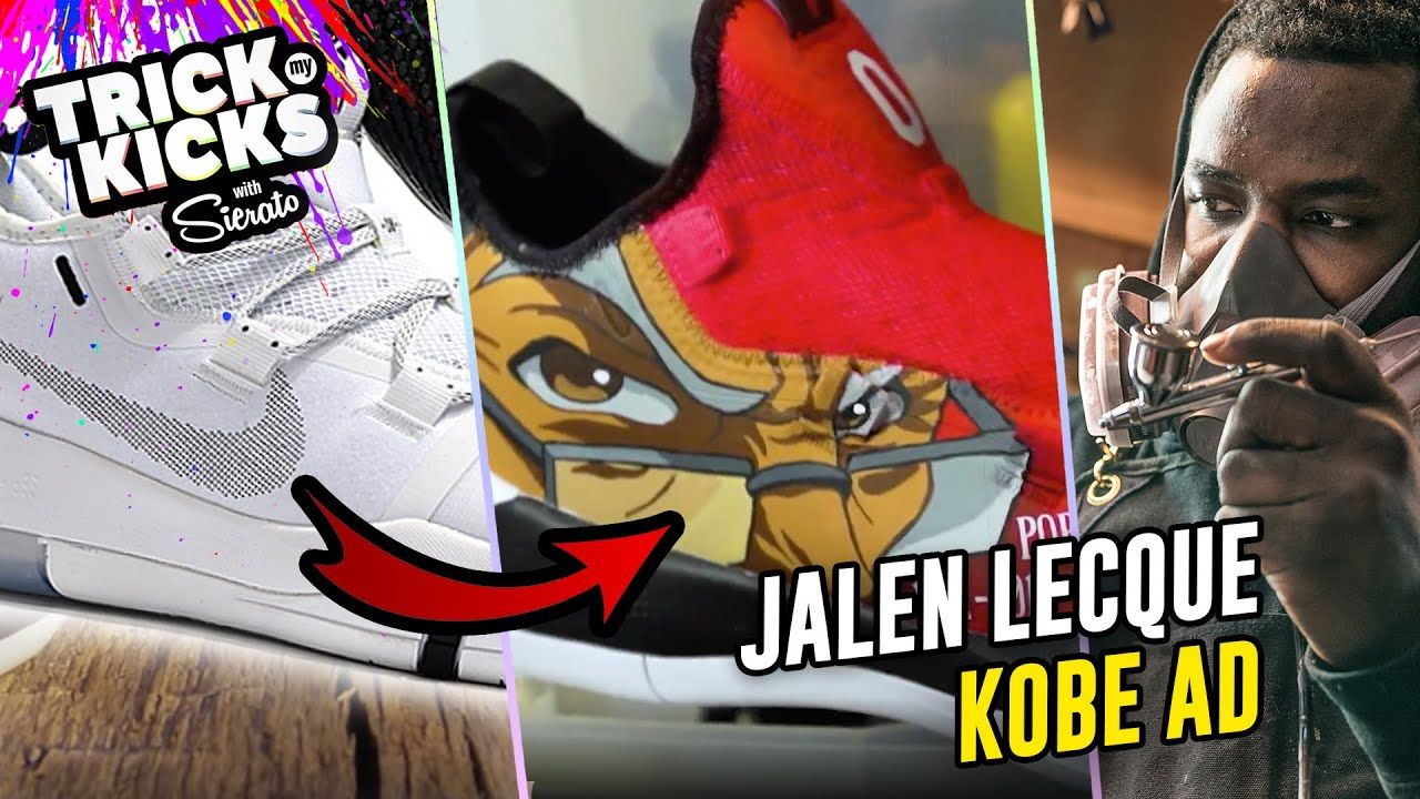 Making Kobe Bryant Customs! Jalen Lecque Gets Boondocks Kobe ADs From #1 Sneaker Artist Sierato 😱