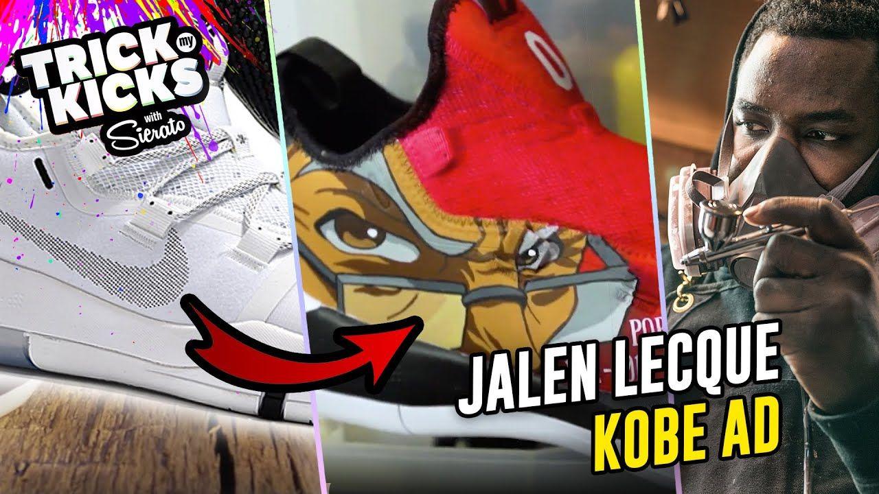 Making Kobe Bryant Customs! Jalen Lecque Gets Boondocks Kobe ADs From #1 Sneaker Artist Sierato 😱