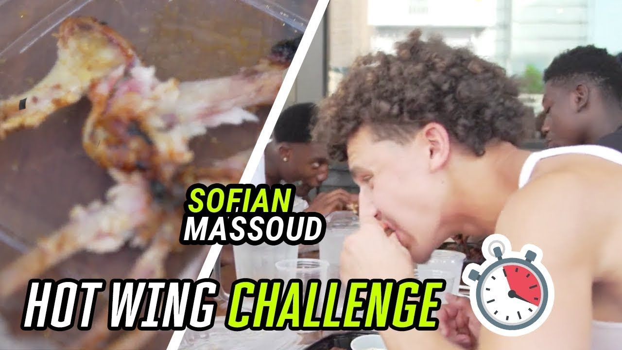 NYC's Best QB Takes On The HOT WING CHALLENGE! How Many Can Sofian Massoud Eat In 2 MINUTES!? 😰